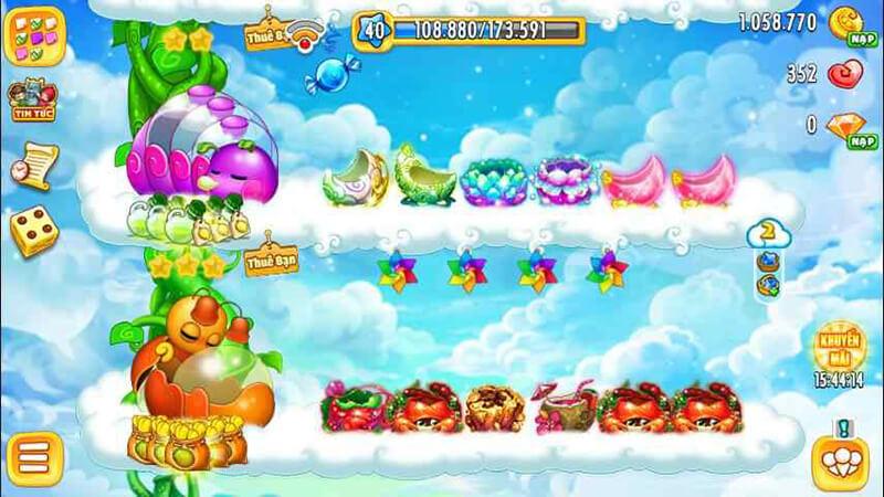 Khu Vườn Trên Mây phiên bản mobile