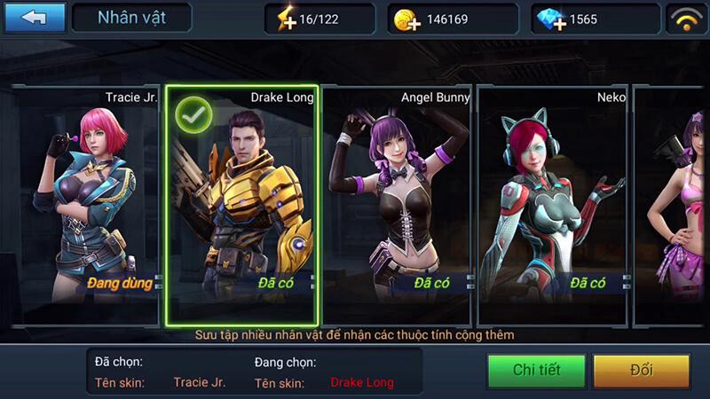 Hệ thống nhân vật trong game: