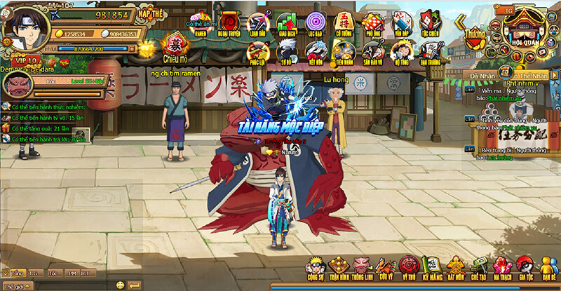 Giao diện game