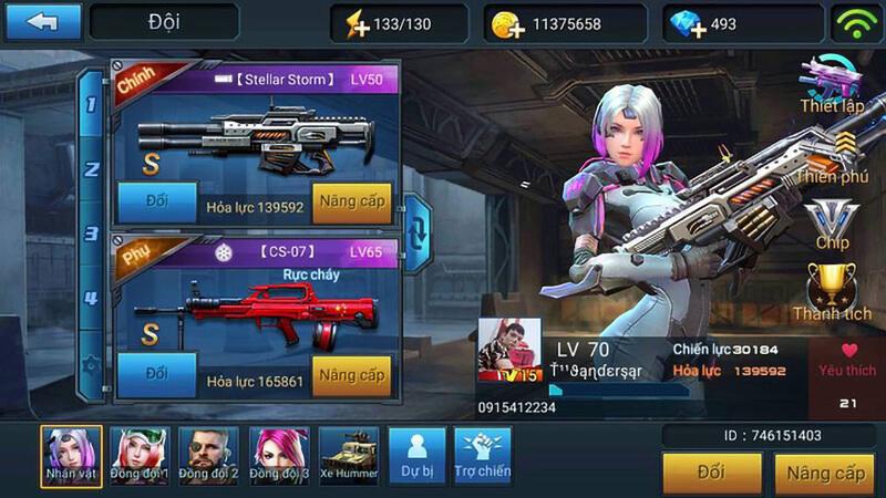 trang bi trong game