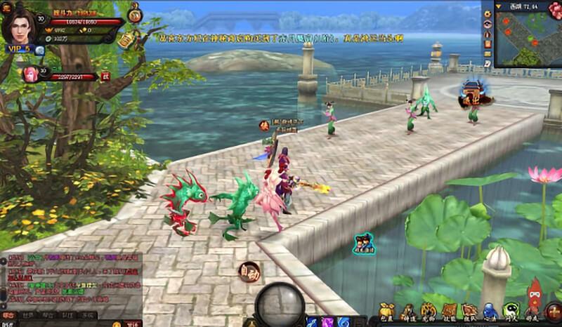 web game 3d mong du giang ho
